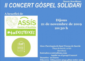 Concert solidari de gòspel a favor d'ASSÍS, 21 de novembre