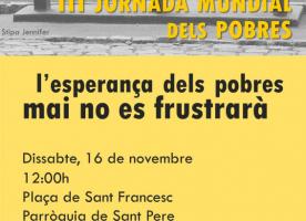 III Jornada mundial dels pobres, 16 de novembre