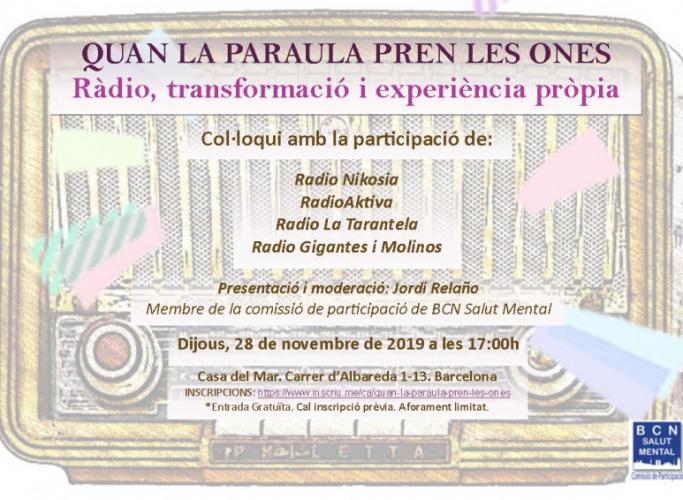 Quan la paraula pren les ones: ràdio, transformació i experiència pròpia, 28 de novembre