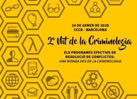 Segona nit de la Criminologia, 24 de gener a Barcelona