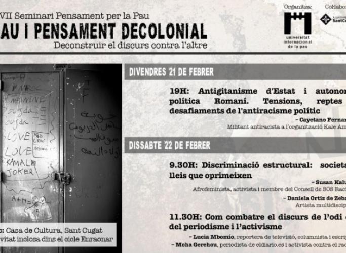 Pau i pensament decolonial, 21 i 22 de febrer