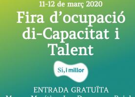 Fira d'ocupació per a persones amb discapacitat, 11 i 12 de març