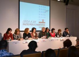 Entitats socials i ciutadania fan una Crida a un Pacte per l'Habitatge 2020-2030