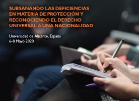Jornades 'Abordando la apatridia en Europa', del 6 al 8 de maig a Alacant