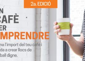 Col·labora amb la campanya 'Un cafè per emprendre' des de casa