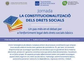Jornada sobre la 'Constitucionalització dels drets socials'