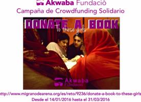 'Donate a book to these girls', crowdfunding de la Fundació Akwaba