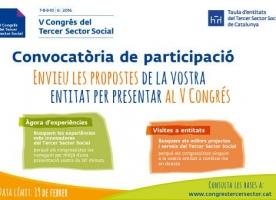 Oberta la convocatòria de participació al V Congrés del Tercer Sector Social