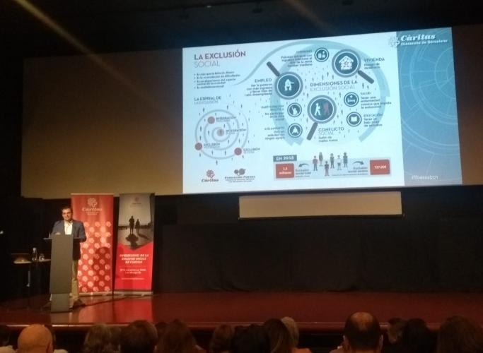"""Càritas Barcelona mostra """"la realitat que no es veu"""" en una jornada de presentació de l'informe Foessa"""